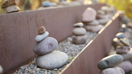 Close up of stone experiences at Miraval Berkshires.